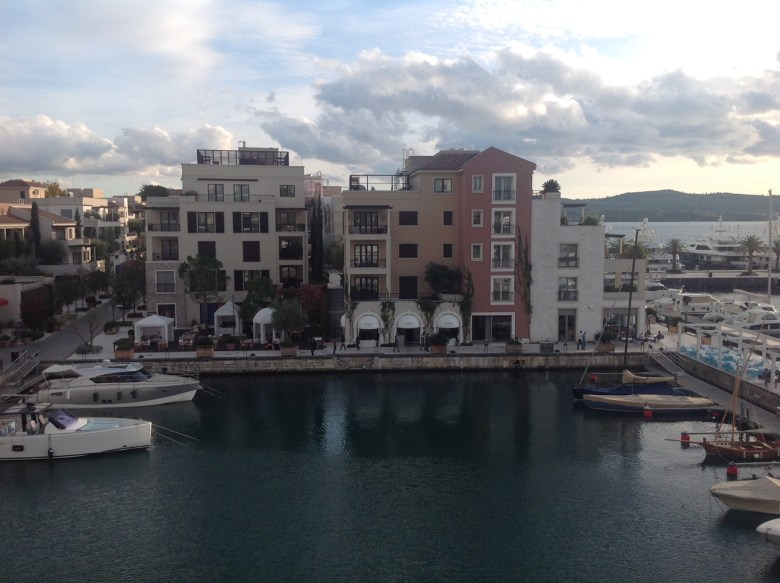 View from my hotel room at The Regent Porto Montenegro
