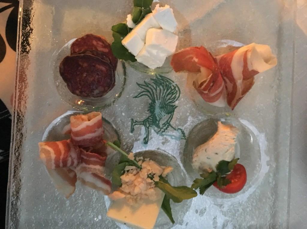 Tasting platter at Kopun during my weekend in Dubrovnik.