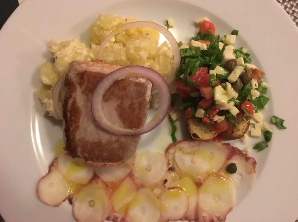 Seafood tasting platter at Gusta Me Dubrovnik