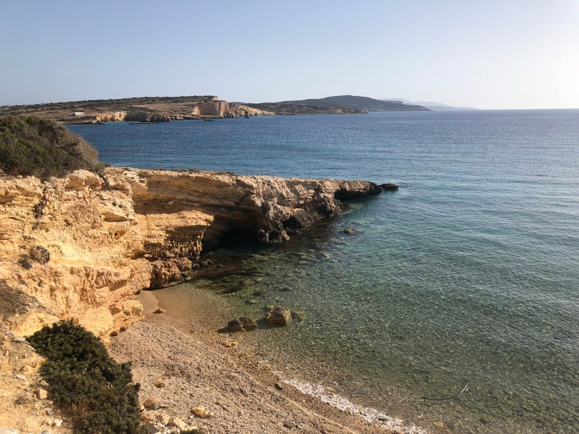 Walking around Koufnisia while island hopping in the Cyclades