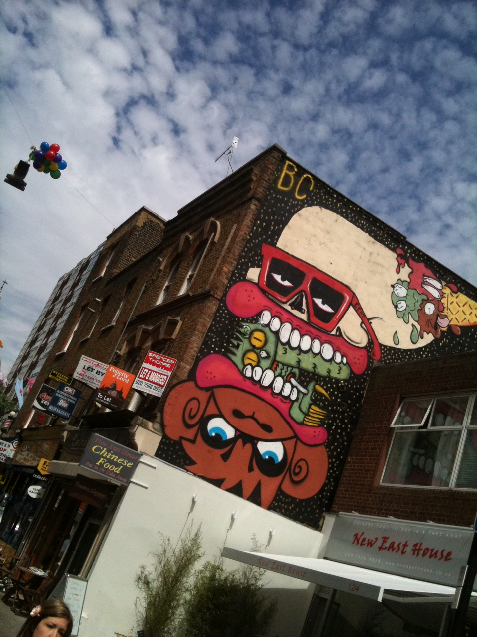 Whitecross Street is home to great street food and street art.