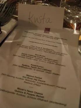 Vinoteca menu