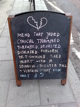 Sign on kingsland road