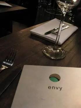 Envy menu