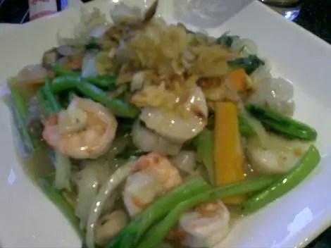 Pho sweet basil mixed seafood