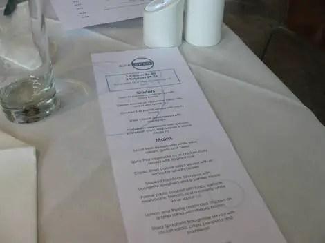 Exeshed menu