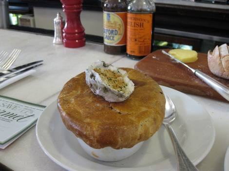Hix oyster and chophouse beef and oyster pie