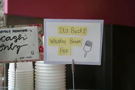Black dog whiskey bacon pop