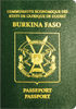 Passport cover of Burkina Faso