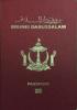 Passport cover of Brunei MOST POWERFUL PASSPORT RANK
