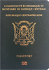 Passport cover of Central African Republic