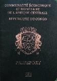 Passport cover of Congo