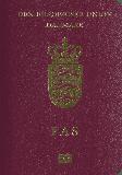 Passport cover of Denmark