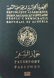 Passport cover of Algeria