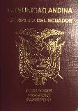Passport cover of Ecuador