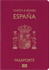 Passport cover of Spain