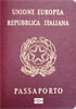 Passport cover of Italy