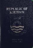 Passport cover of Kiribati