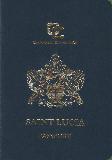 Passport cover of Saint Lucia