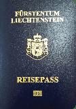Passport cover of Liechtenstein