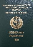 Passport cover of Liberia