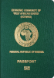 Passport cover of Nigeria