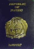 Passport cover of Nauru