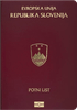 Passport cover of Slovenia