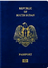 Passport cover of South Sudan