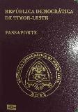 Passport cover of Timor-Leste