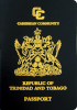 Passport cover of Trinidad and Tobago MOST POWERFUL PASSPORT RANK