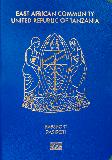 Passport cover of Tanzania