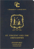 Passport cover of St. Vincent and the Grenadines MOST POWERFUL PASSPORT RANK