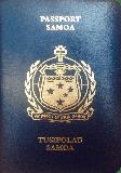 Passport cover of Samoa