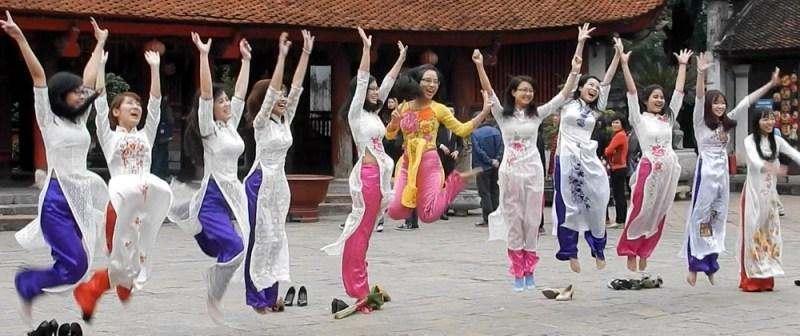3 Hanoi Girls Celebrate