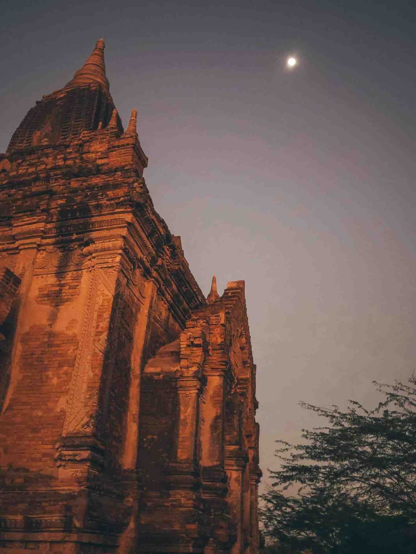 Moonlight in Bagan