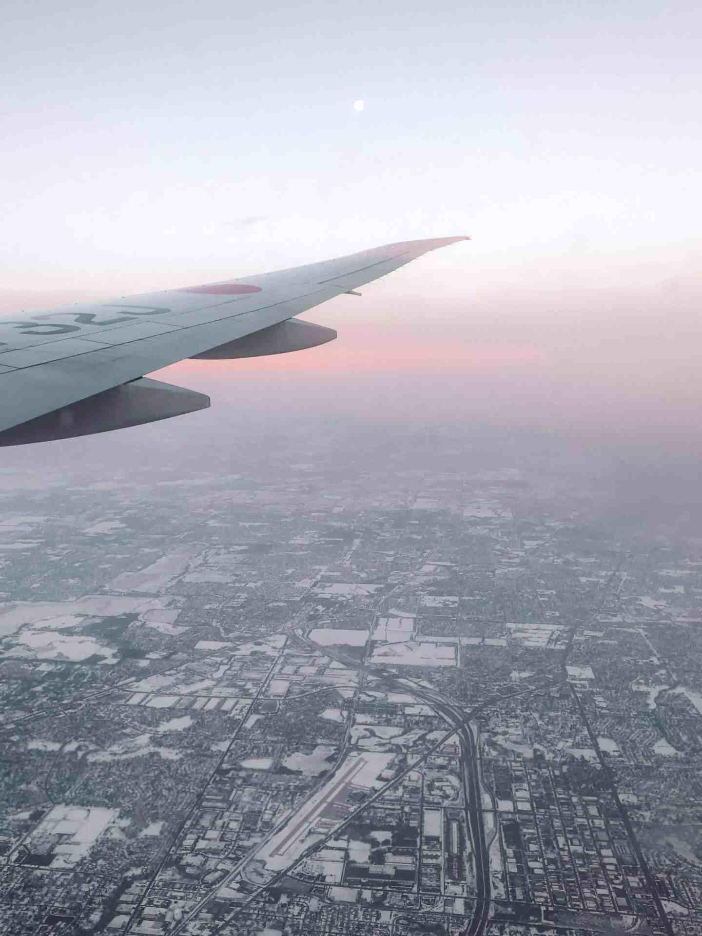 View from an airplane