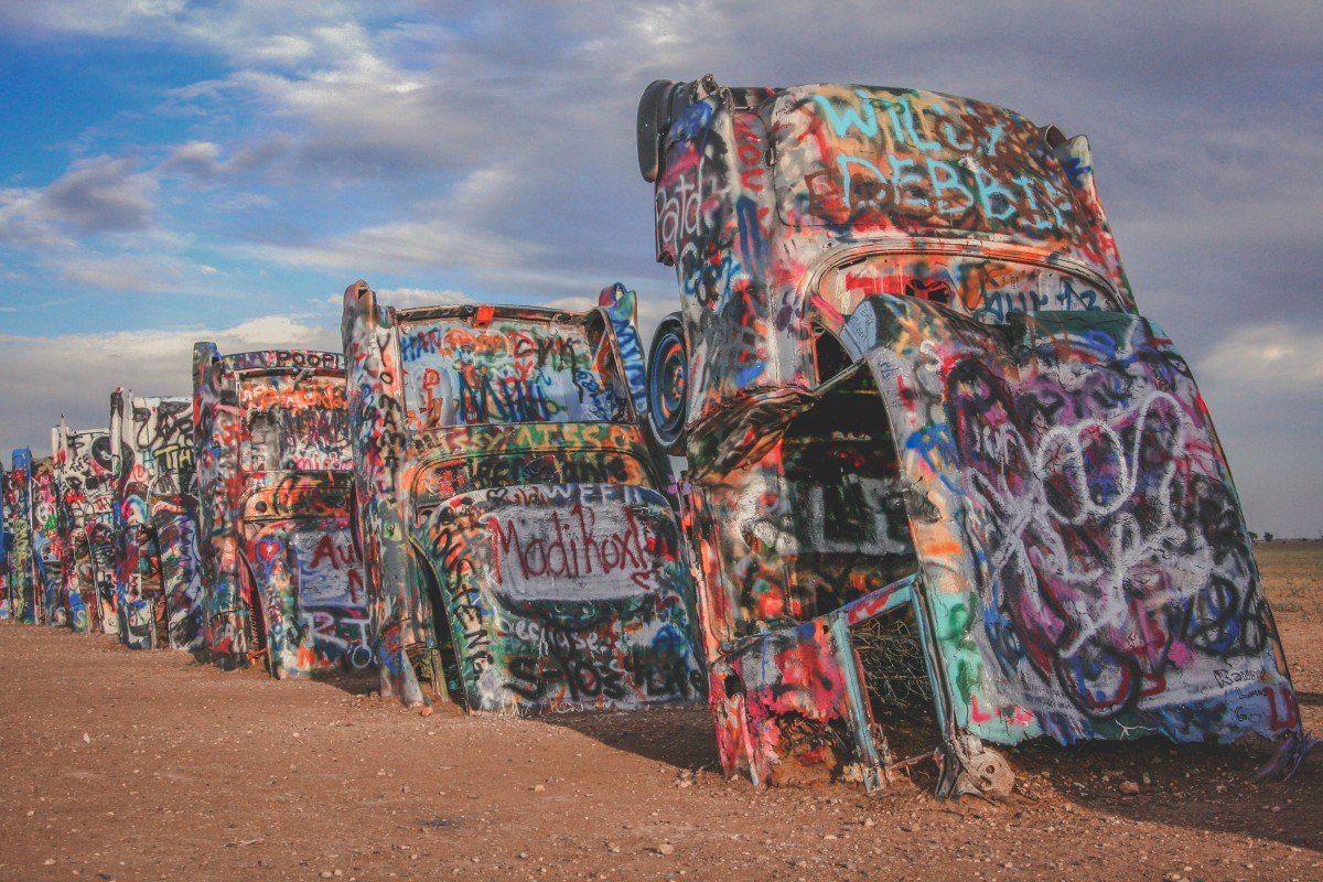Cadillac Ranch is one of those quirky roadside America stops to do on any Texas road trip