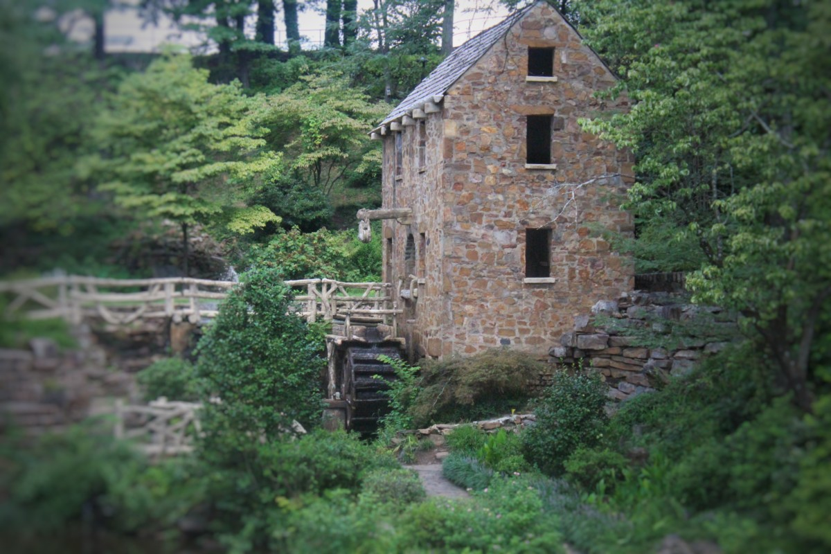 Old Mill in Little Rock Arkansas _ Water Wheel