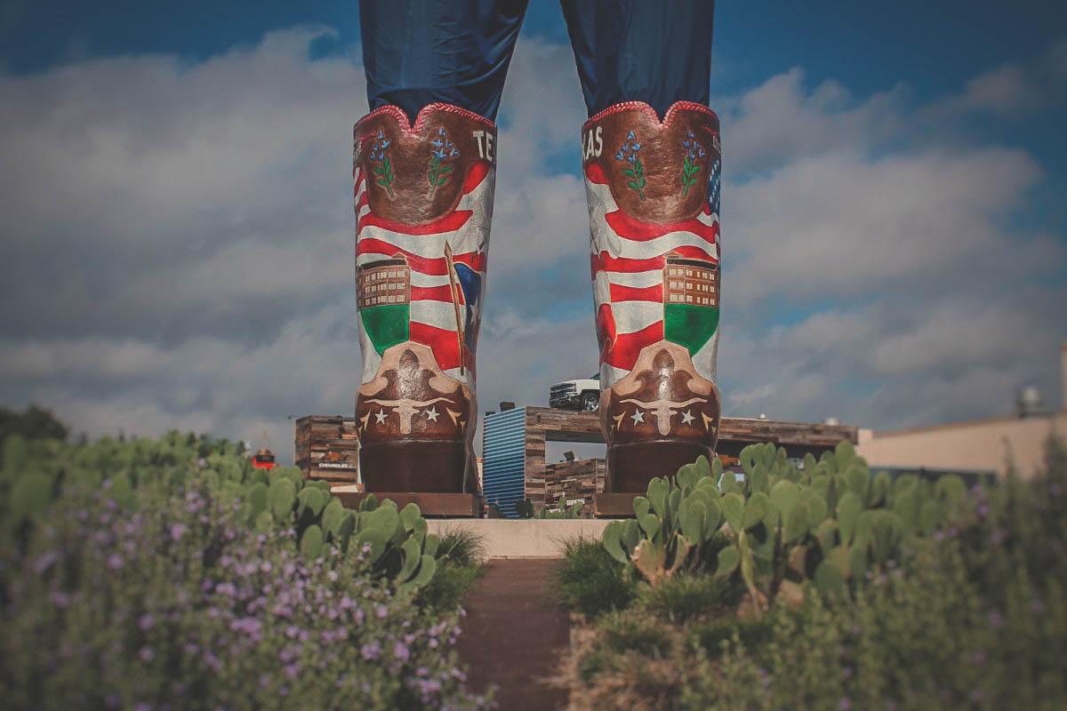 Big Tex is located in the Fair Park district in Dallas