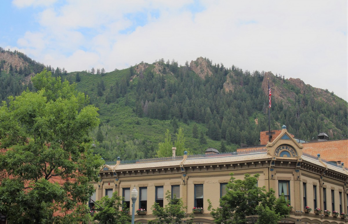 Aspen Block in Aspen, Colorado (you can see the mountains behind)