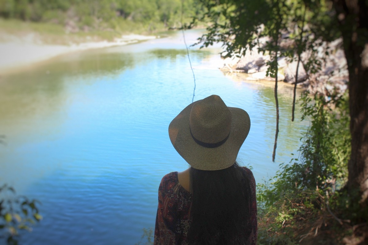 The Blue Hole in Glen Rose Texas Can Be Seen During Dinosaur Valley State Park Hiking