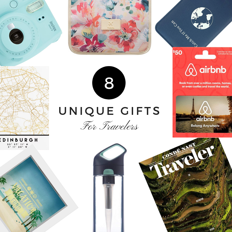 Unique Gifts for travelers featured image.