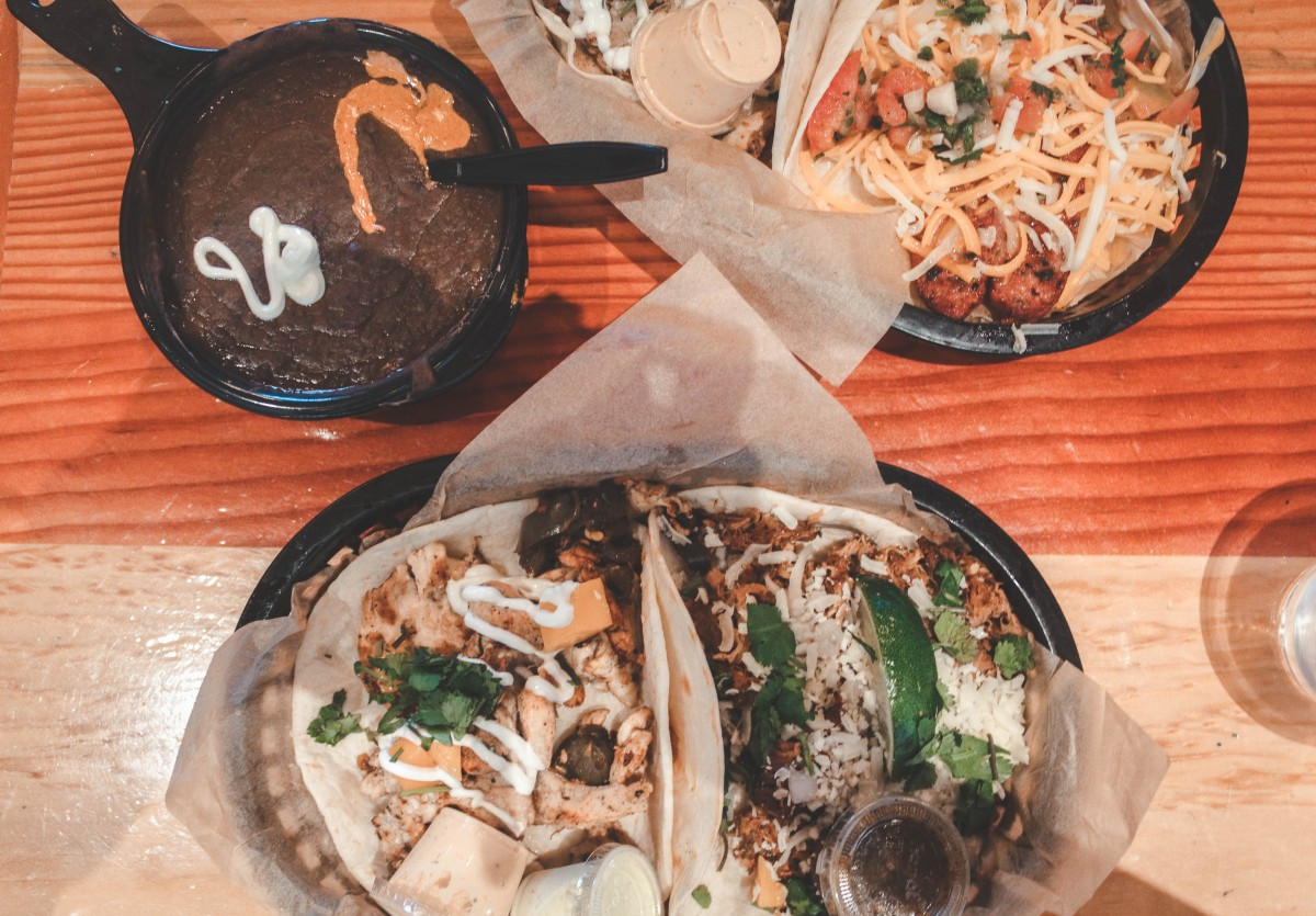 Two brushfires, double order and some black beans from Torchy's Tacos
