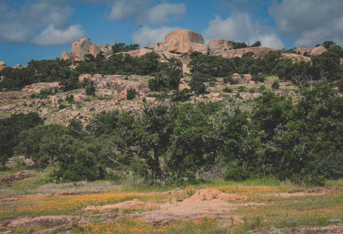Hiking Enchanted Rock State Natural Area in the spring