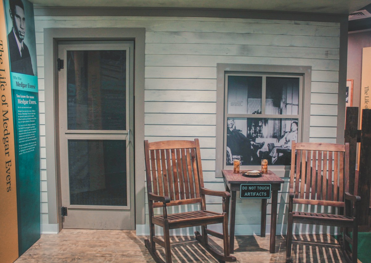 Medgar Evers Home replica as seen in the Smith Robertson Museum in Jackson