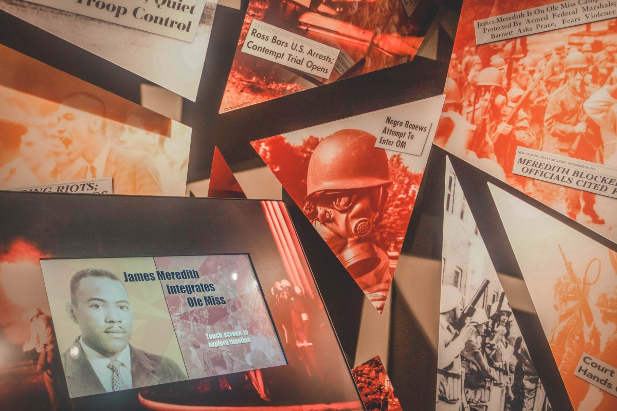 Red displays in Mississippi Civil Rights Museum