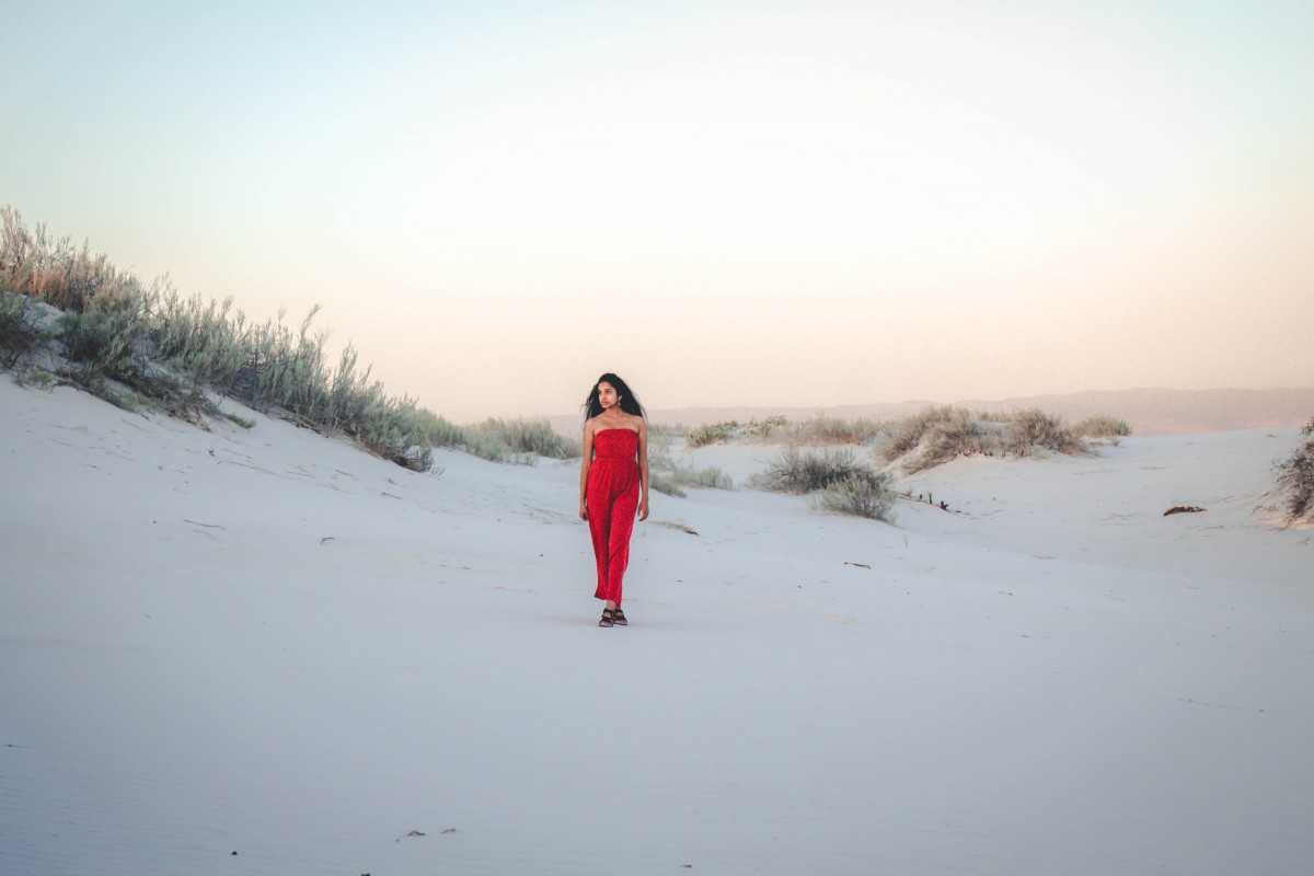 Visiting White Sands - faux vogue photoshoot LOL