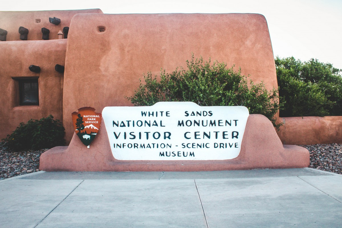 Visiting White Sands National Monument Entrance Sign