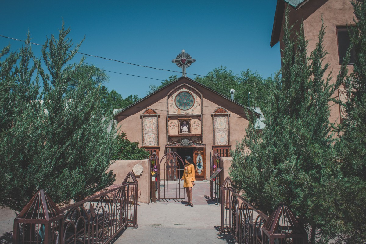 Santo Nino Chapel in Chimayo en route from Santa Fe to Taos